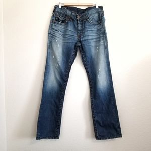 True Religion Ricky Straight Fit Jeans Size 34